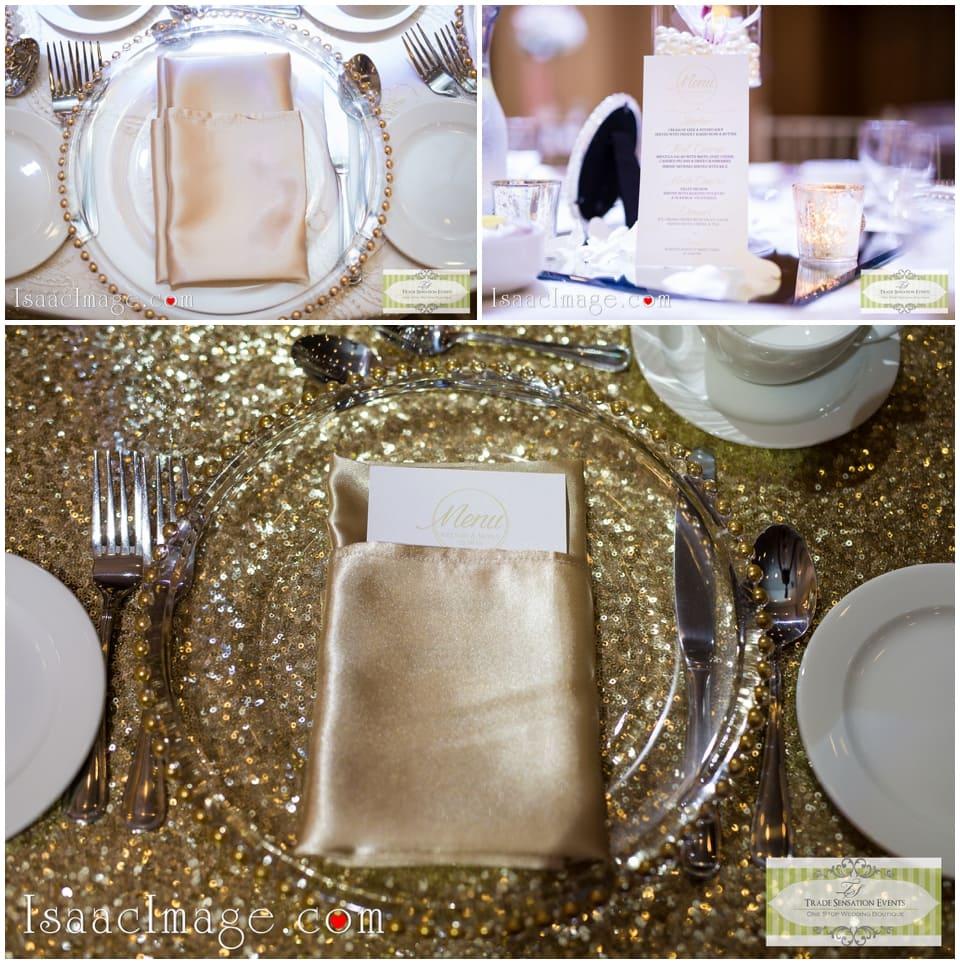 gold themed wedding decor
