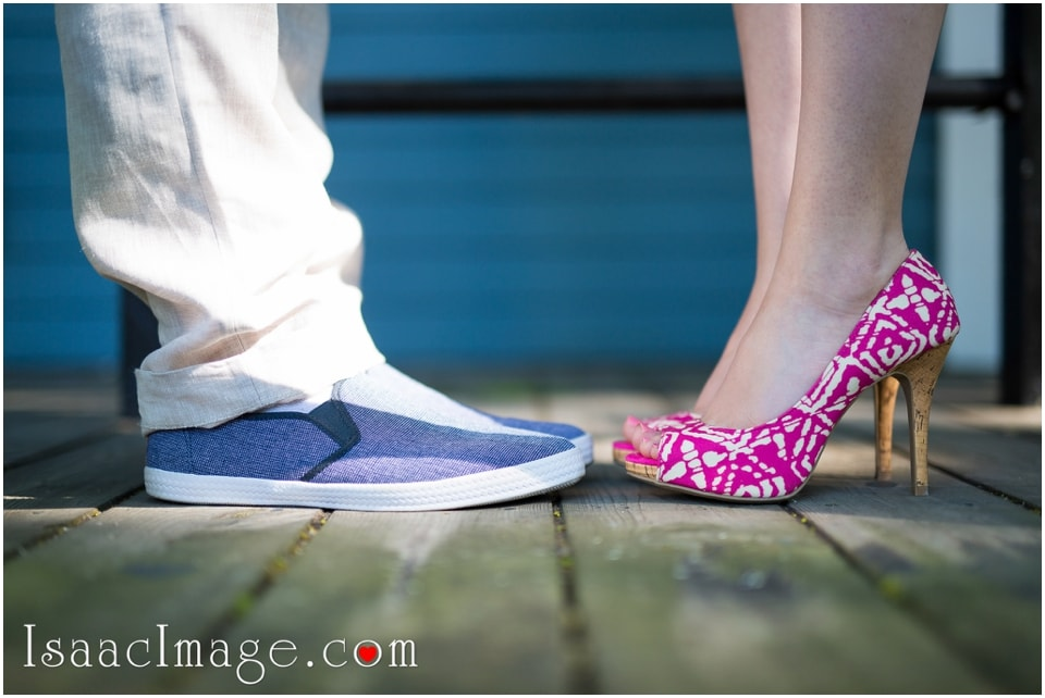 gorgeous shoes Toronto Island engagement session