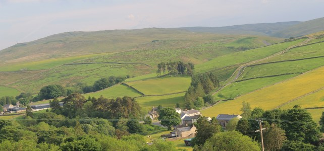 Pennine Way view from Isaac's Byre Garrigill