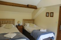 Twin beds in first floor bedroom: these can be superking.