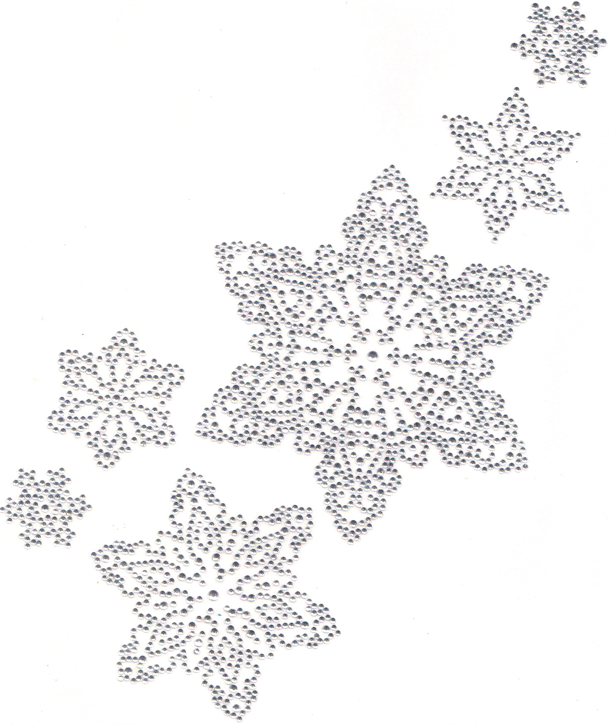 S All Clear Multi Size Snowflakes Isaacs Designs