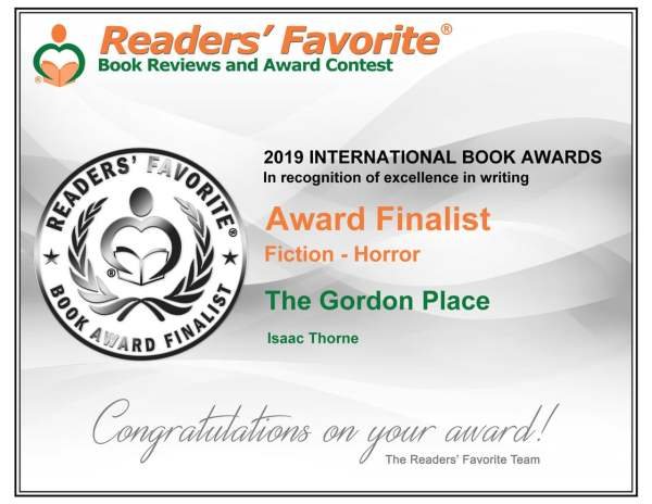Readers Favorite Award Finalist Certificate