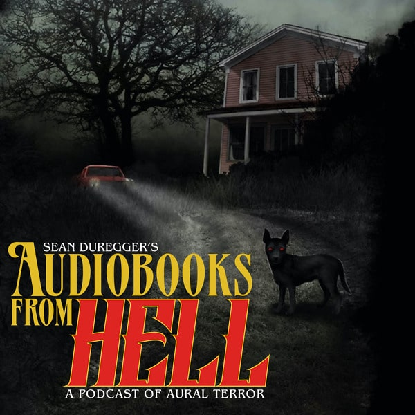 Audiobooks From Hell logo superimposed on the cover for Isaac Thorne's 'The Gordon Place'
