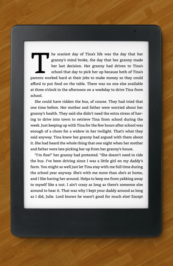 DECISION PARALYSIS on an ereader.