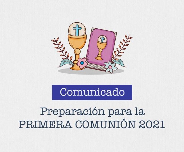Comunicado de Inscripción a la Primera Comunión