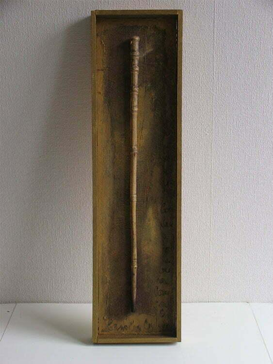 Bambou - 18x66cm - technique mixte - 50 €.