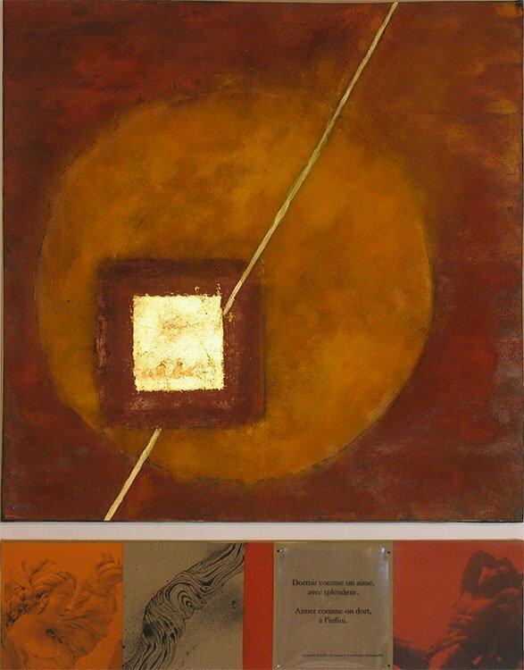 L'amour triomphant - 80x102cm - technique mixte - 600 €.