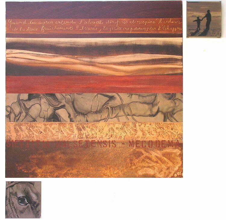 Octobre - N°1 - 122x122cm - technique mixte - 2008 - collection particulière.
