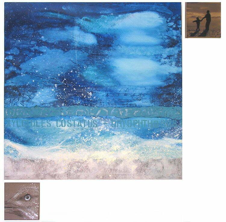 Sugiton - N°3- 122x122cm - technique mixte - 2009 - 800 €.