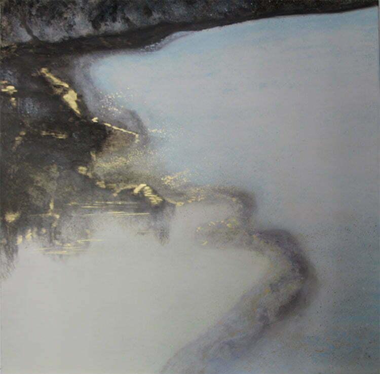 Hiver (lac de Lusigny) - N°1 - 100x100cm - huile sur toile - mars 2013 - 800 €.