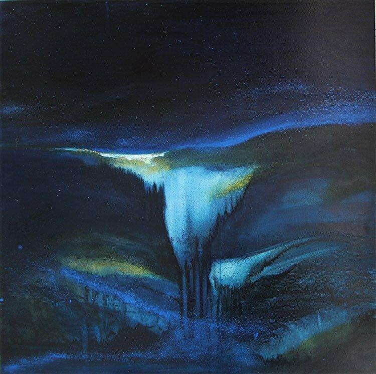 Nocturne (Ardèche) - N°4 - 100x100cm - huile sur toile - avril 2013 - Collection particulière.