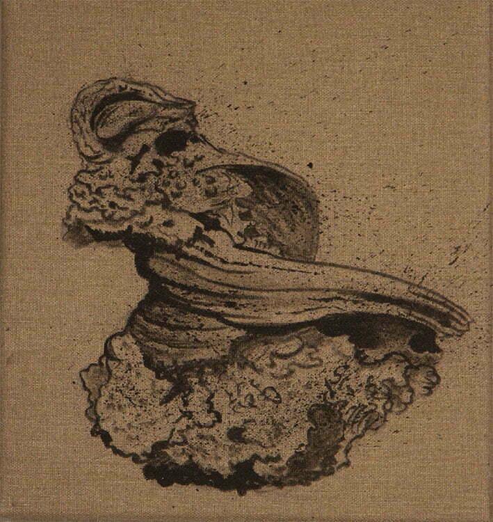 Lave - N°4 - 25x27cm - encre de Chine sur toile - 2013 - collection particulière.