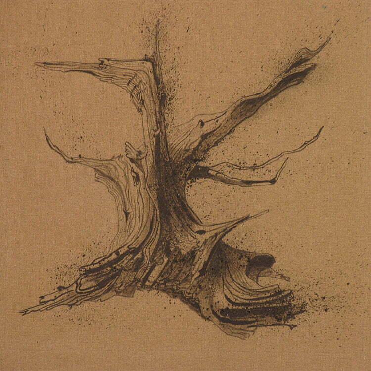 Racine de cade - N°6 - 60x125cm - encre de Chine sur toile - 2009 - collection particulière.
