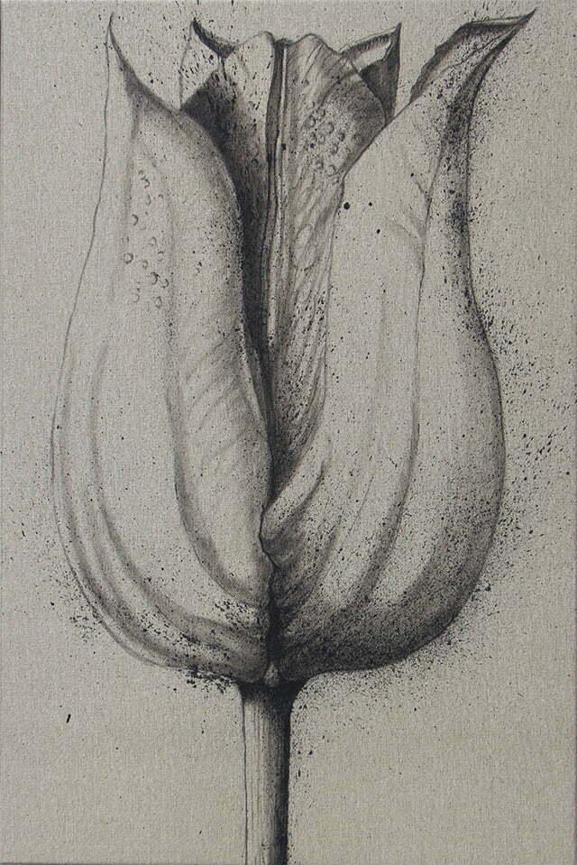 Tulipe - 14 avril 2021 - 48 X 72 cm - 350 €.