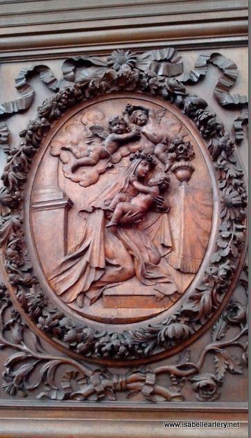 détail sculture bois