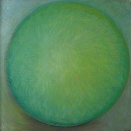 Boule verte / Huile / L 50 x H 50
