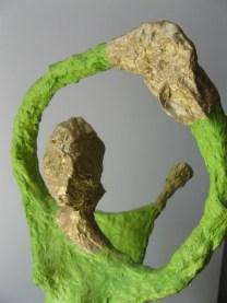 Danseuse verte / Papier mâché / H 42