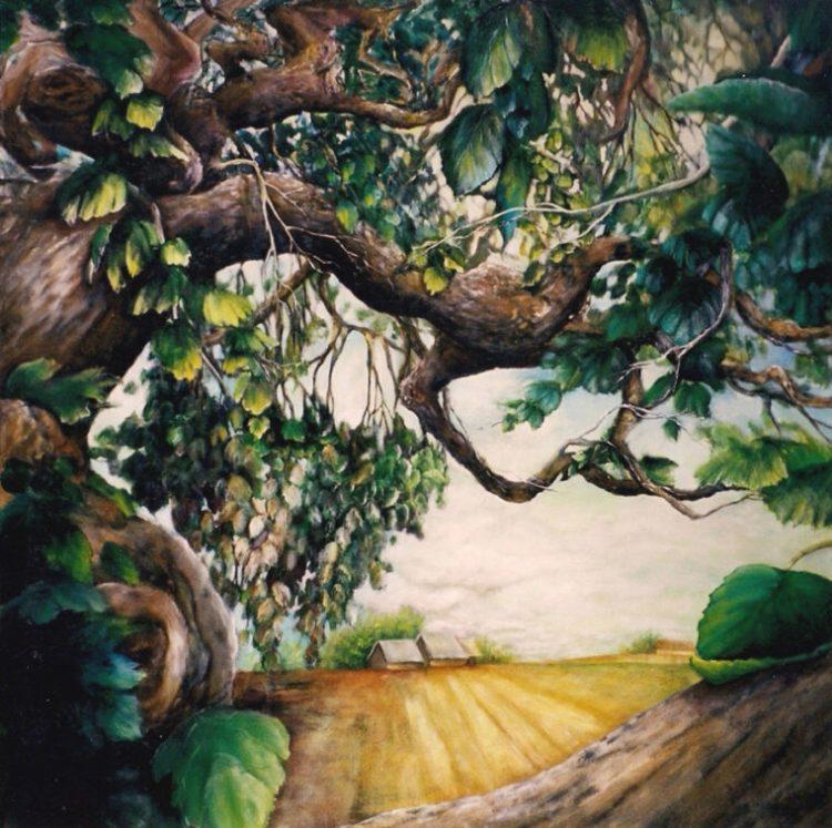 Travail de création sur l'arbre de Marie-Andrée Tardif.