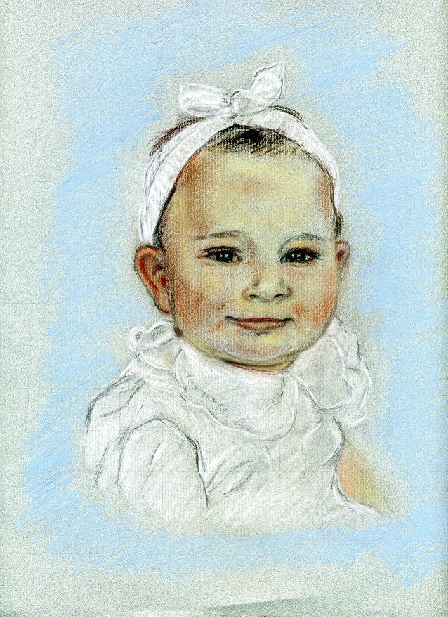 Portrait Morgane crayon pastel
