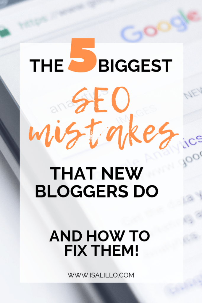 seo tips for new bloggers mistakes