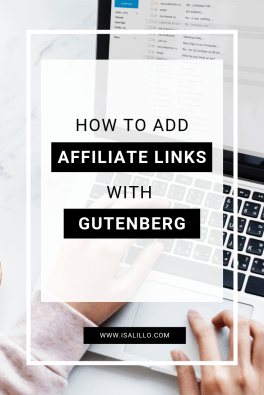 how to affiliate links with Gutenberg