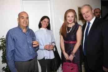 Από τα αριστερά προς τα δεξιά: (Α-Δ) Δρ. Μ. Λως, Αικ. Λω, Ε. Νταϊφά, Γ. Βλάχος