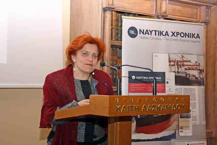 Η Κοσμήτορας της Σχολής Επιστημών της Διοίκησης του Πανεπιστημίου Αιγαίου, καθηγήτρια Μαρία Λεκάκου.