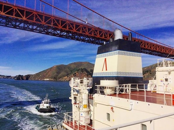 2. Under the Golden Gate Bridge. Credits to Maria Galati