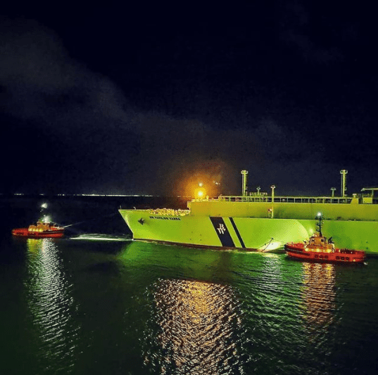 6. Another LNG carrier outbound Credits to November Sierra