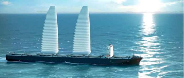 Σύστημα φουσκωτών πανιών με στόχο τη μείωση των εκπομπών των πλοίων