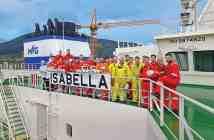 """Το πλήρωμα του νεότευκτου LNG carrier """"ISABELLA"""" της Maran Gas Maritime (MGM)"""