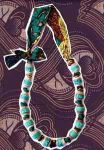 QZ-fabric bead necklace copy