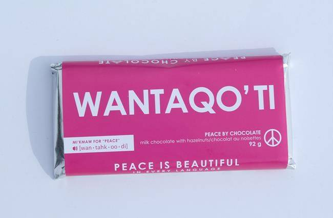 Peace By Chocolate Names New Bar After The Mi Kmaq Word For Peace