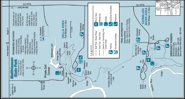 Matthiessen State Park Trail Map
