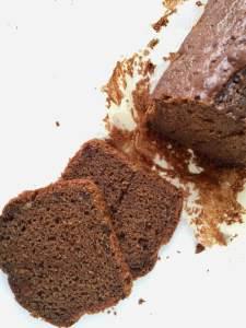 plumcake al cioccolato fondente e yogurt