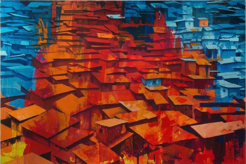 Red and Blue Slums von Matthias Mross HAUS 75