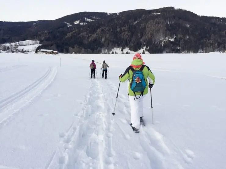 Bei Schneeschuhwandern | Foto: Monika Schreiner ISARBLOG