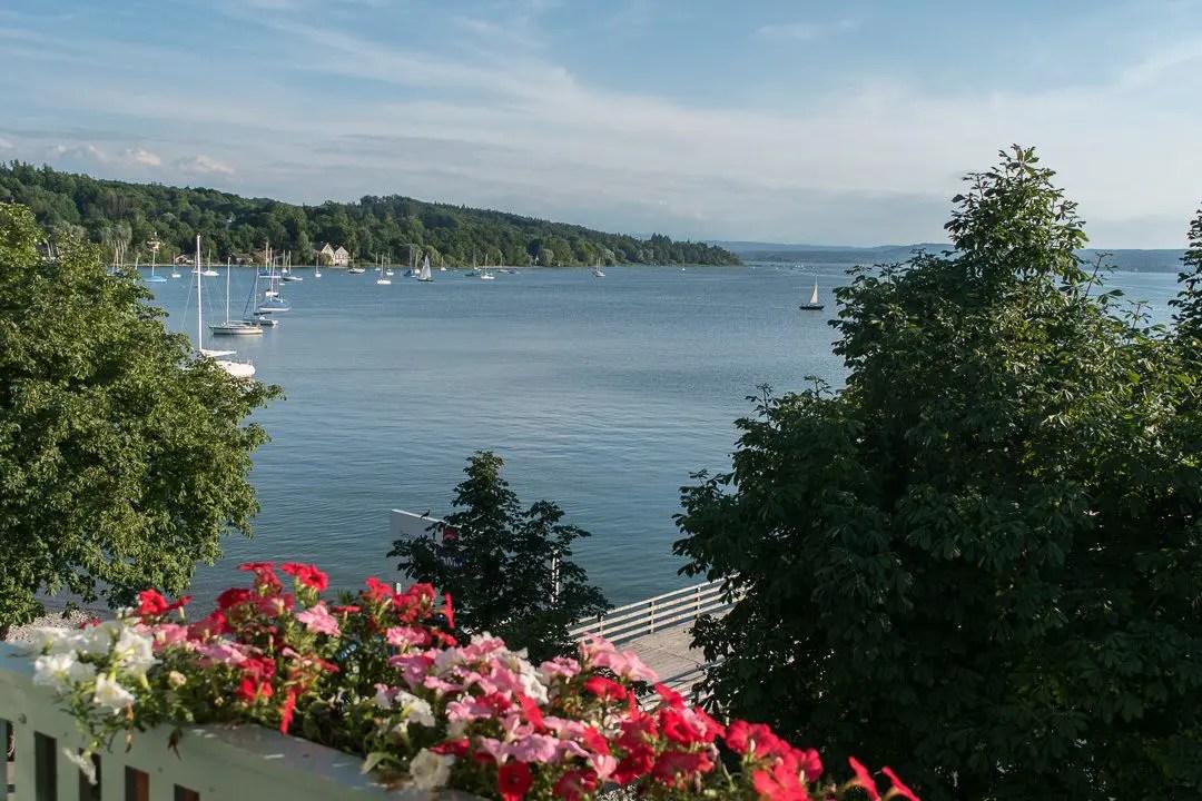 Ausblick vom Hotel Seehof auf den Ammersee - ISARBLOG