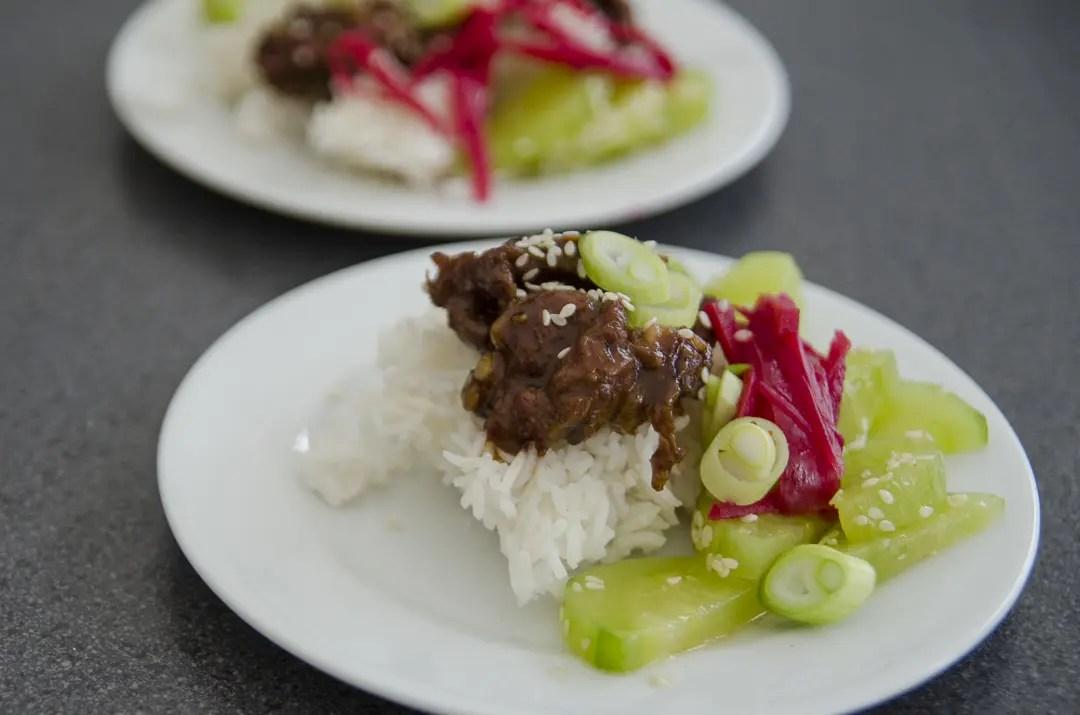 Okinawa Ginger Wagyu Beef aus dem Wok - ISARBLOG