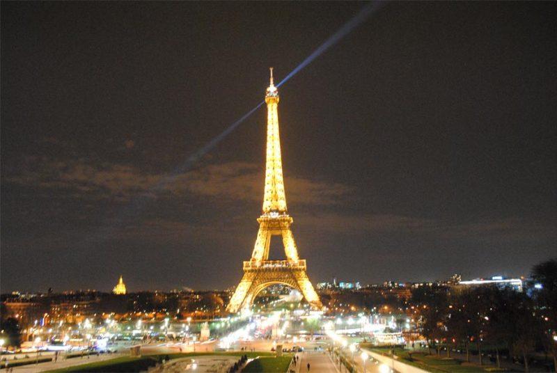 Paris Eiffelturm bei Nacht
