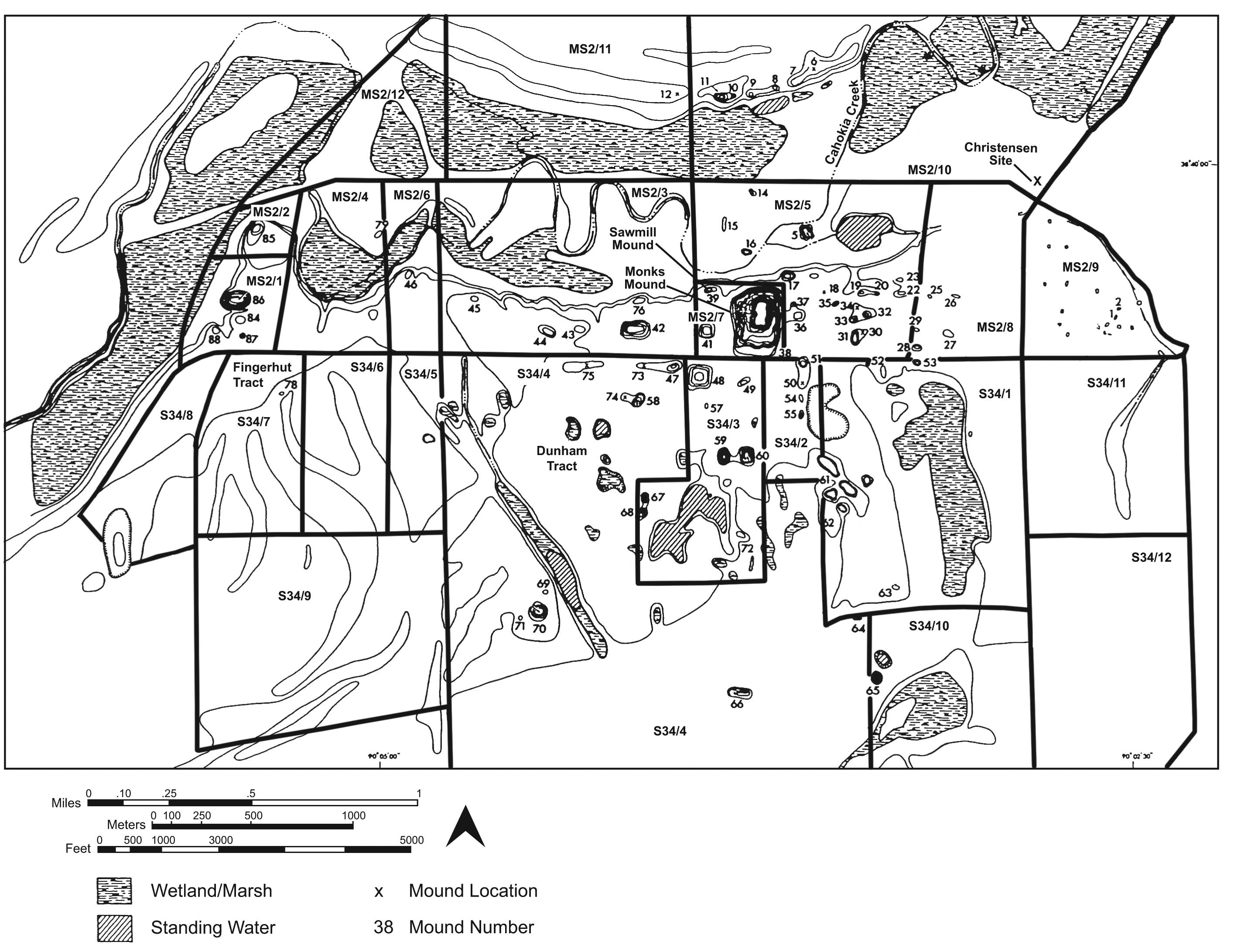 Cahokia On World Map