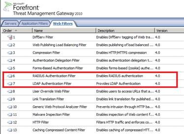 Figure 1: RADIUS and LDAP Web Filter