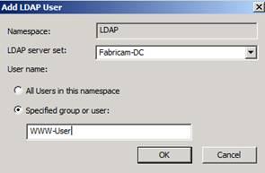 Figure 11: Select allowed Windows user group for LDAP set