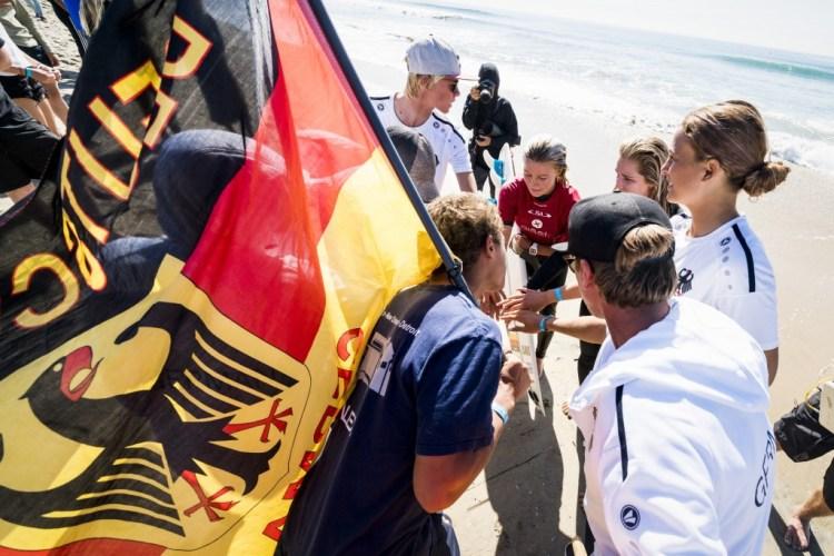 Noah Lia Klapp avanzó por otro día de competencia para el Equipo de Alemania. Foto: ISA / Ben Reed