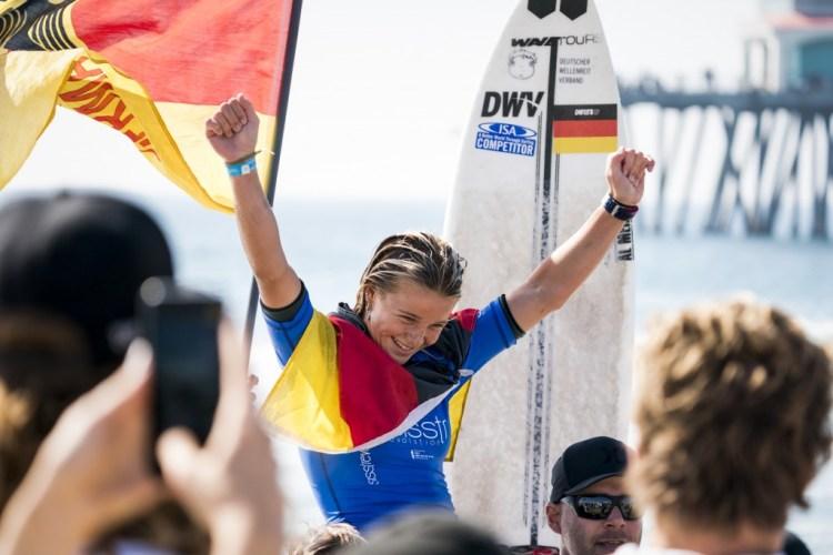 Noah Lia Klapp ganó una Medalla de Oro para Alemania, la segunda edición consecutiva que el país gana un Oro en el evento. Foto: ISA / Ben Reed