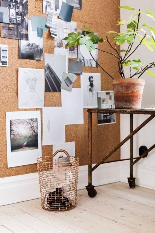 Paredes de corcho, un acierto seguro en decoración. • 8-sorbos-de-inspiracion-tablón-paredes-decoradas-con-tablas-de-cortar-pared-cocina-ideas-paredes-cocinas-pared-pintura-magnética-pared-pintura-de-tiza-decorar-con-perchas-pared-de-corcho-tablones-de-corcho