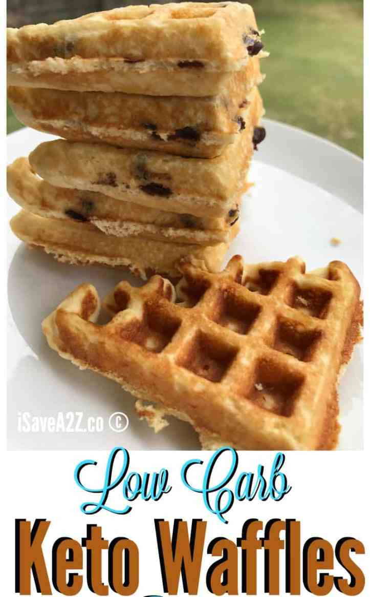 Low Carb and Keto Fluffy Waffles Recipe