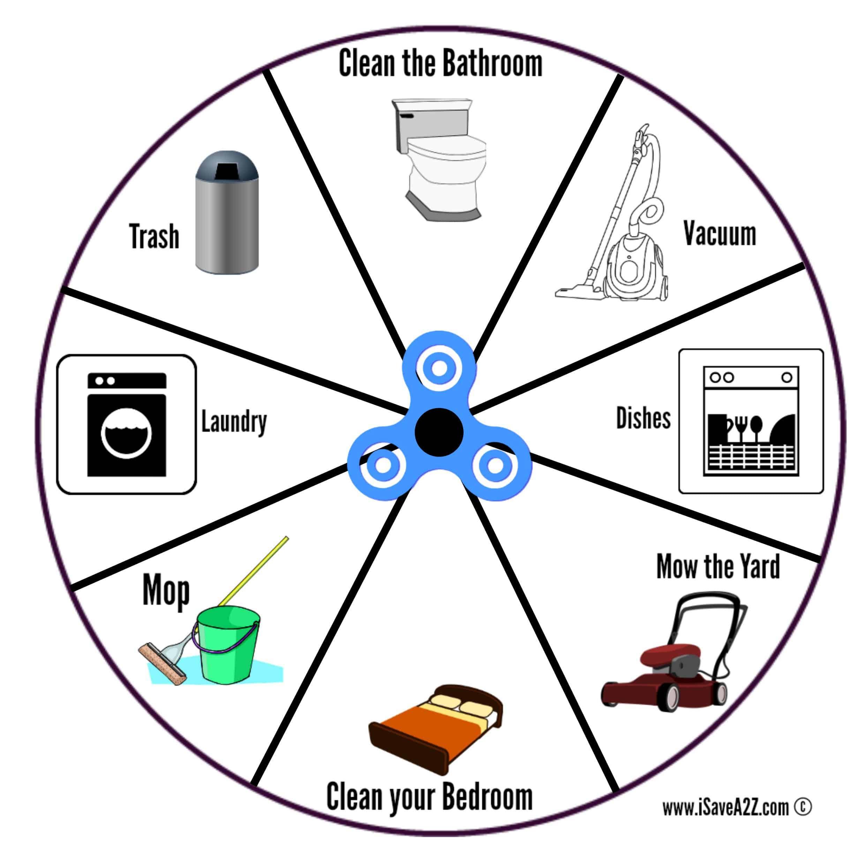 Free Printable Fidget Spinner Chore Chart