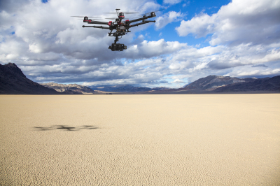 A camera attached to a helicopter-an example of what can now be used to capture stunning shots from the air.