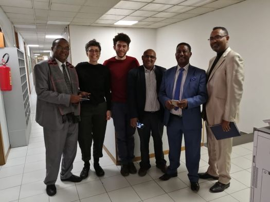 la delegazione Etiope accolta dallo staff di Iscos Emilia Romagna